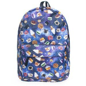 🎁🏆Food and Space Unisex Backpack